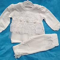 Комплект для девочки белый. рост62-74