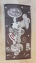 Рушник для рук Мишка-кухар на коричневому