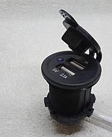 USB зарядки гнездо врезной для автомобиля 12/24В