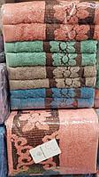Махровые пушистые полотенца «Яркие цветы» (8 шт)