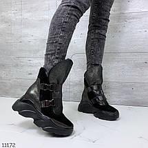 Замшевые ботинки на платформе, фото 3