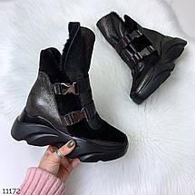 Замшевые ботинки на платформе, фото 2