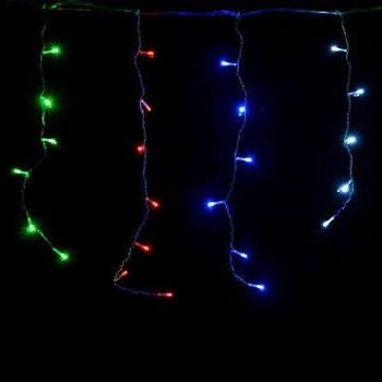 "Новогодняя уличная гирлянда ""Бахрома"", 120LED (Ø 3,3) 4м, (контрол.220V) (БП) | Микс"