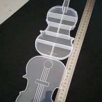 Коробочка органайзер для бисера. Скрипка.