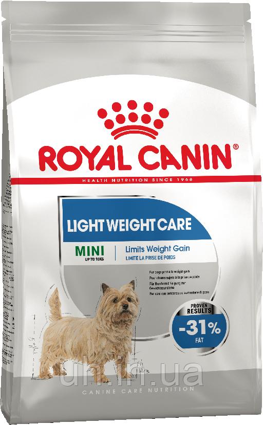 Royal Canin Mini Light Weight Care для профилактики избыточного веса у собак мелких пород 1КГ