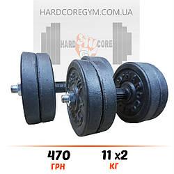 Гантелі  2х11 кг