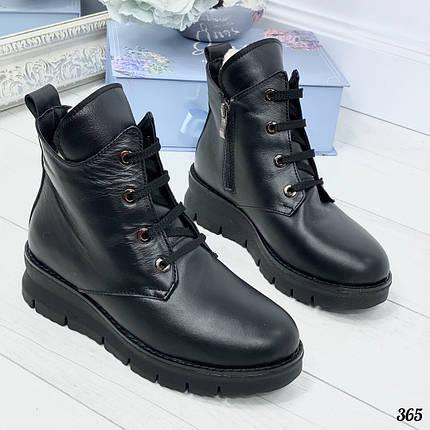 Кожаные ботинки зима, фото 2