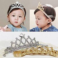 Детская эластичная повязка на голову в виде короны на новый год