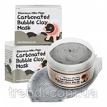 Глубокого киснева маска для обличчя Elizavecca Carbonated Bubble Clay Mask (Китай)