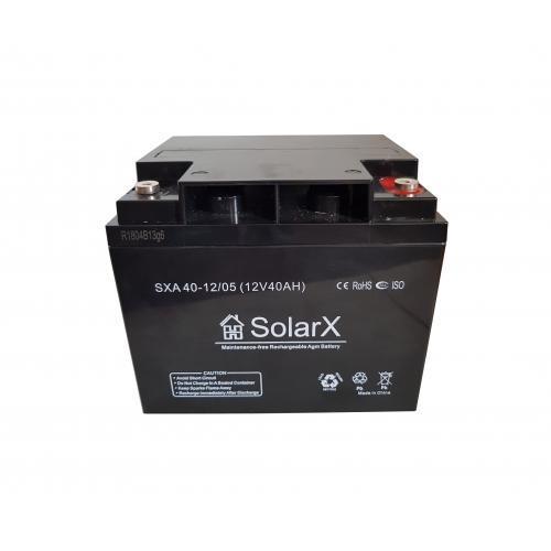 Аккумуляторная батарея SolarX SXA 40-12 (12V 40Ah)