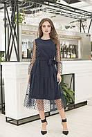 Платье нарядное с сеткой в расцветках 41271, фото 1