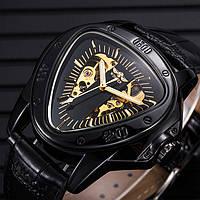 Механические часы с автоподзаводом Winner Triangle (black)
