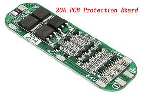 BMS контроллер 3S Li-Ion 18650 12.6V 20A заряда/разряда