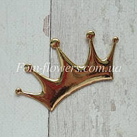 Патчи Корона, глянцевая эко- кожа. Цвет золото. Размер 8*4.4см