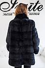 Норковый Полушубок Графит Стойка 75/120 0541ЕИШ, фото 4
