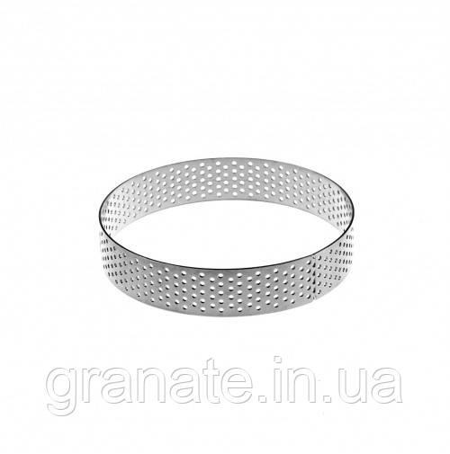 Кольцо кондитерское перфарированное для выпечки тарталеток D80 H20