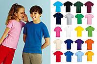 Детская футболка 100% ХЛОПОК Классическая Fruit of the loom 1-15 лет