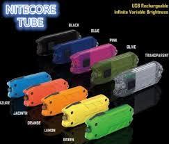 Nitecore TUBE фонарик брелок 45LM зарядка USB (цвет: чёрный)
