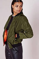 Куртка Бомбер женский оливковый Angel Kiss размер 42 - 44