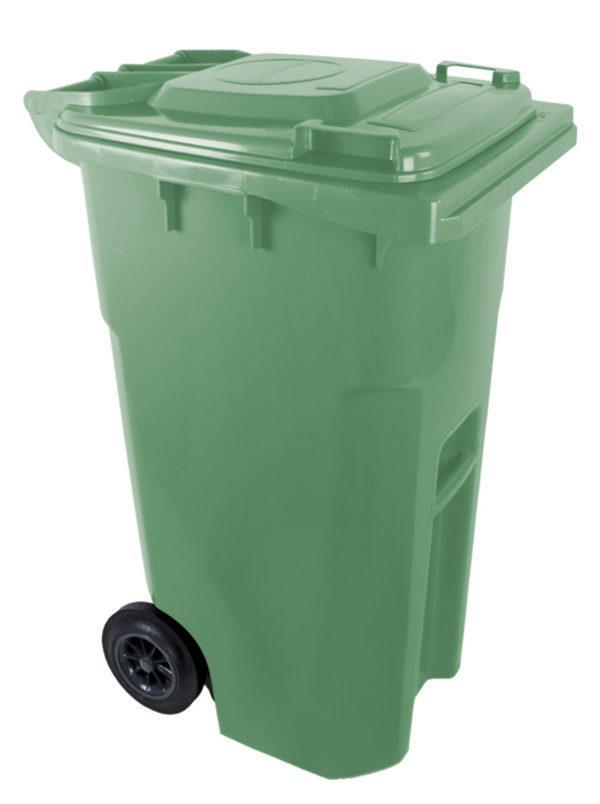 Мусорный бак для ТБО 240л зелений Plastik Gogic