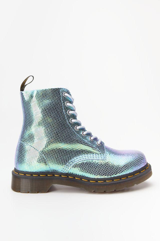 Оригинальные ботинки DR. MARTENS 1460 PASCAL IRIDESCENT BLUE DM25143400