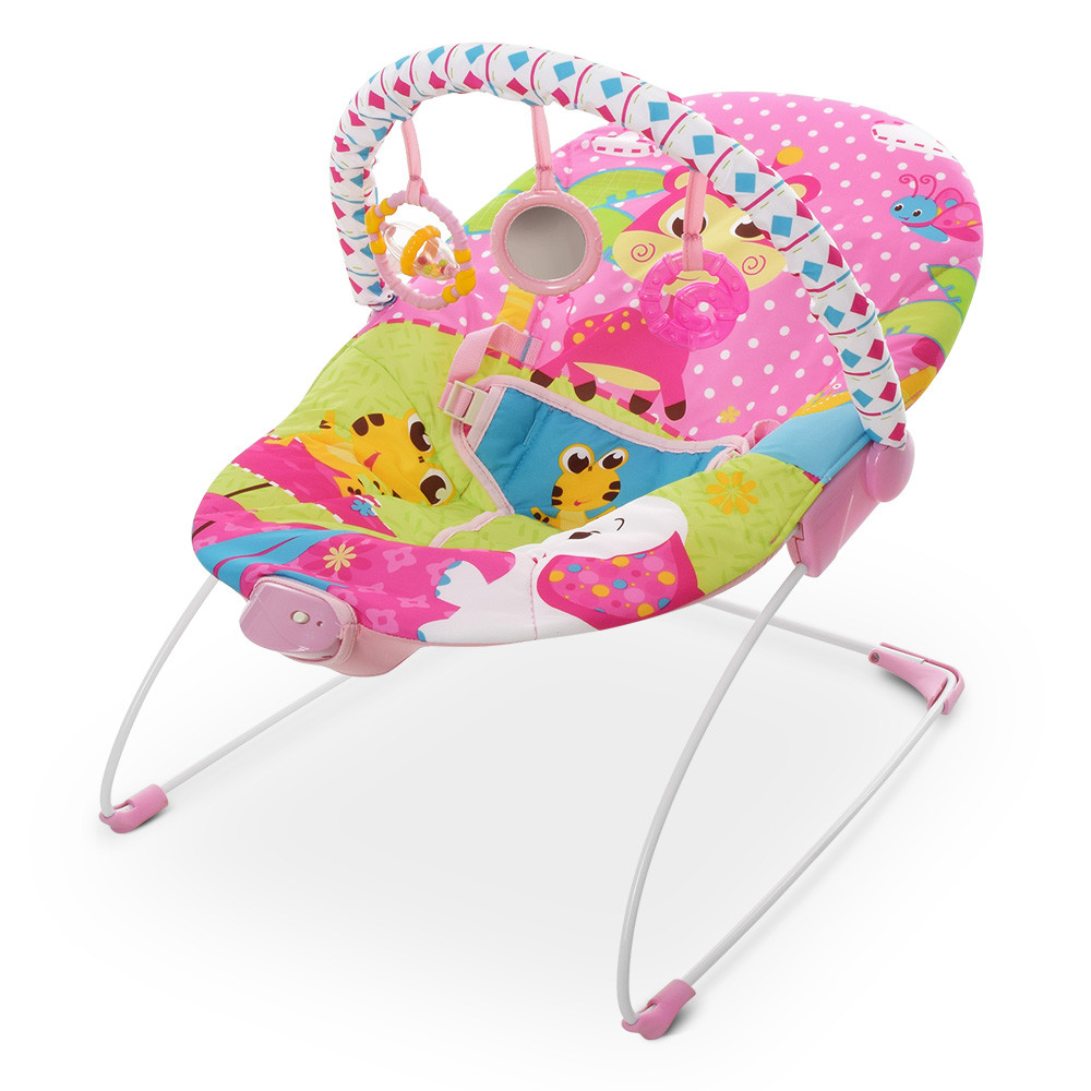 Шезлонг-баунсер детский от рождения Mastela 6790 розовый