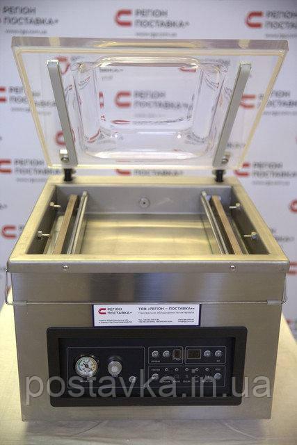 Однокамерна вакуумна машина з відкритою кришкою