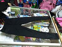 Лосины детские спортивные черные р.98 -158см