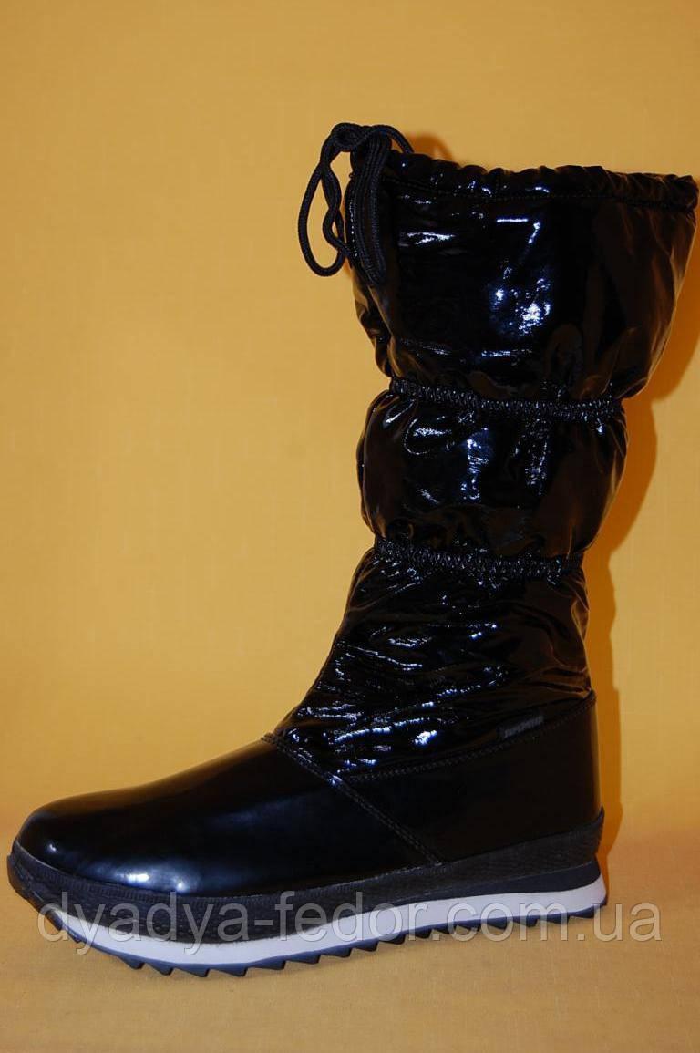 Детская зимняя обувь SuperGear Венгрия 182b Для девочек Черные размеры 33_38