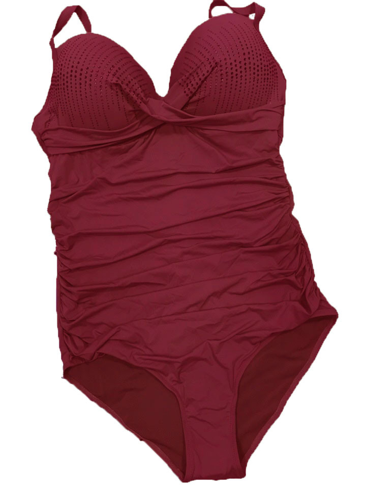 Цільний купальник Люкс 3902 червоний на 50 розмір