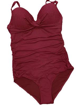 Цільний купальник Люкс 3902 червоний на 50 розмір, фото 2