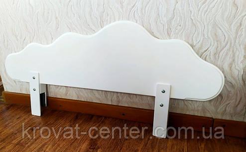 """Белый защитный бортик из массива натурального дерева от производителя """"Облако"""" 100 см., фото 2"""