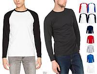 Мужская футболка с Длинным Рукавом Лонгслив Fruit of the loom