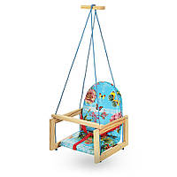 Качель детская подвесная Bambi V 701-14 Голубой для дома сада