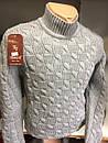 Тёплый молодёжный свитер стойка производства Турции. Состав 50шерсть/50акрил. Размеры с/м,л/хл., фото 3