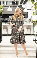 Платье с принтом в расцветках 41281, фото 1