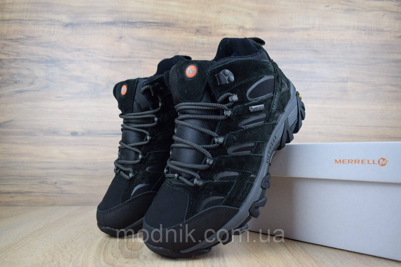 Мужские зимние кроссовки Merrell Moab (черные)
