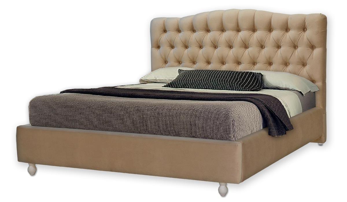 Ліжко двоспальне 160х200 Ніколетта, ортопедична, ламелі, еко шкіра, тканина, з коробом. Під замовлення