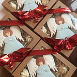 "Подарочный пряник ""Ангел"", корока 15х15 см, фото 3"