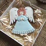 "Подарочный пряник ""Ангел"", корока 15х15 см, фото 4"