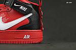 Мужские кроссовки Nike Air Force 1 07 Mid LV8 (красные) ЗИМА, фото 6