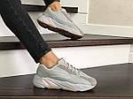Женские кроссовки Adidas Yeezy Boost 700 (серые), фото 4