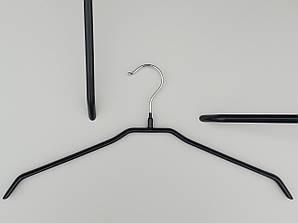 Плечики металлические в силиконовом покрытии черного цвета, 42 см