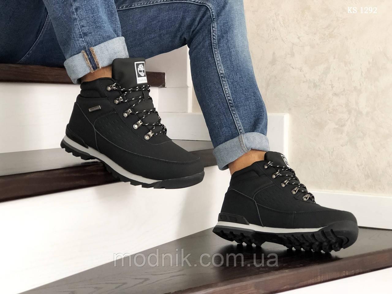 Мужские зимние ботинки Timberland (черные)