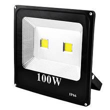 Прожектор уличный SLIM YT-100W 2COB, 9000Lm, IP66 (влагозащита) - 32,