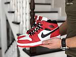 Мужские зимние кроссовки Nike Air Jordan 1 Retro (красно-белые), фото 3