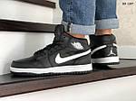 Мужские зимние кроссовки Nike Air Jordan 1 Retro (черно-белые), фото 2