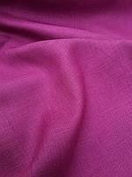 Легкая Льняная ткань сливового цвета, фото 1