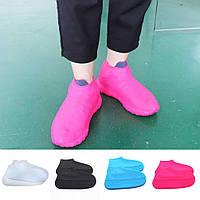 Многоразовые силиконовые бахилы водонепроницаемые Waterproof Silicone Shoe Cover