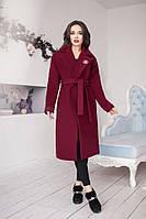 Женское модное кашемировое пальто с поясом